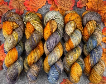 Biscotti Sock | 85/15 SW Merino/Wool Sock Weight| Spiked Gingerbread Coffee | Hand Dyed Yarn | Superwash wool