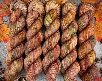 Worsted Weight | Hot Cider Nog | Hand Dyed Yarn | Superwash