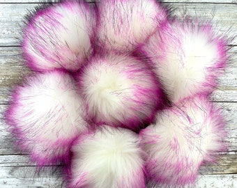 Sassy   Pom Pom   Snap on Pom Pom   Faux Fur Pompom