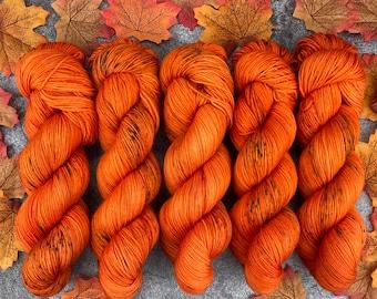 Biscotti DK Weight | 85% SW Merino Wool/15 Nylon | Spicy Citrus | Hand Dyed Yarn | Superwash