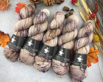2-ply Fingering Weight | Café Ole | Hand Dyed Yarn | Superwash Merino Wool