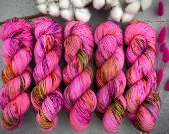 Worsted Weight   Strawberry Shortcake   Hand Dyed Yarn   Superwash wool