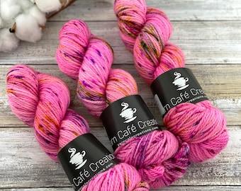 Aran Weight  | Strawberry Shortcake | Hand Dyed Yarn | Superwash Merino Wool