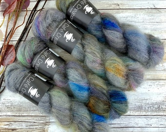 Thestrals | Mohair Lace | Hand Dyed Yarn