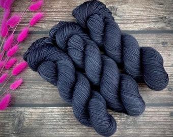 Sport Weight   100% SW Merino Wool   Mascara   Hand Dyed Yarn   Superwash wool