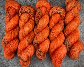 PRE-ORDER Biscotti Sock   85/15 SW Merino/Wool Sock Weight   Jack O'Lantern   Hand Dyed Yarn   Superwash wool   Classic Halloween Collection