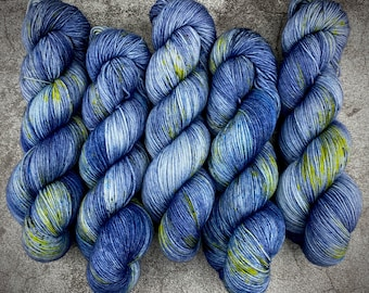 PRE-ORDER Biscotti Sock   85/15 SW Merino/Wool Sock Weight   Haunted House   Hand Dyed Yarn   Superwash wool   Classic Halloween Collection
