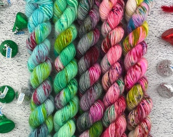 Christmas Candy Mini Skein Collection Two