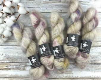 Dried Rose Petals   Mohair Silk   Hand Dyed Yarn