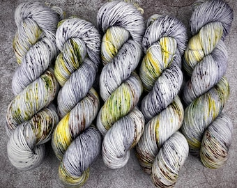 Polwarth Fingering Weight   100% Superwash Polwarth Wool   Fairy Cat   Classic Halloween Collection   Hand Dyed Yarn