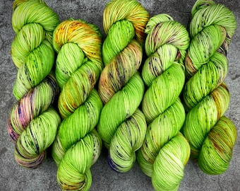 2-ply Fingering Weight | Creature | Classic Halloween Collection | Hand Dyed Yarn | Superwash Merino Wool