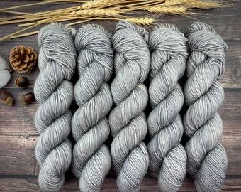 Americano DK Weight | 100% SW Merino Wool | Oatmeal | Hand Dyed Yarn | Superwash wool