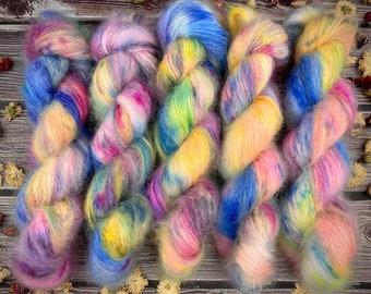 Mohair/Silk Lace   Cutie Mark Crusaders   Hand Dyed Yarn