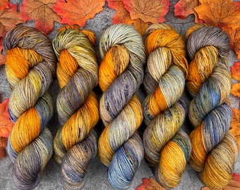 Biscotti DK Weight | 85% SW Merino Wool/15 Nylon | Spiked Gingerbread Coffee | Hand Dyed Yarn | Superwash