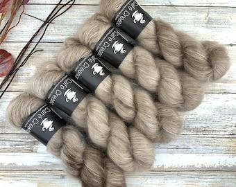 Sand | Mohair Silk | Hand Dyed Yarn