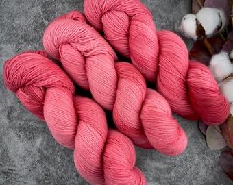 Fingering Weight   Chili Pepper   Hand Dyed Yarn   Non-Superwash Merino Wool