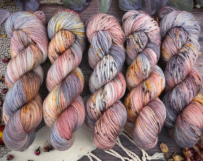 Featured listing image: 100% Merino SW Fingering Weight   Agate   Hand Dyed Yarn   Superwash wool