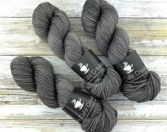 Aran Weight  | Coffee | Hand Dyed Yarn | Superwash Merino Wool