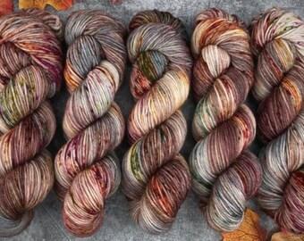 Sport Weight   100% SW Merino Wool   Autumn Leaves   Hand Dyed Yarn   Superwash wool