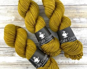 Aran Weight  | Dijon | Hand Dyed Yarn | Superwash Merino Wool