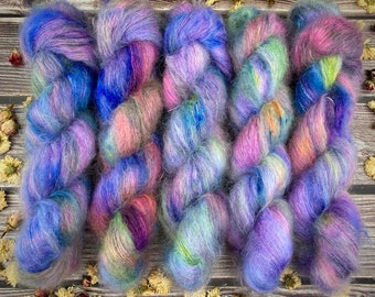 Mohair/Silk Lace   Wonderbolts   Hand Dyed Yarn