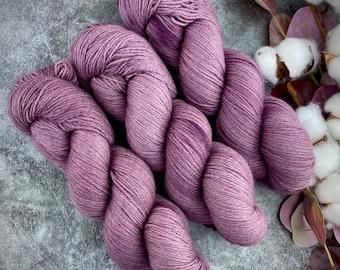 Fingering Weight   Fig   Non-Superwash Merino Wool   Hand-Dyed Yarn