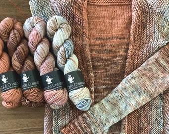 Size XXS-M Comfort Fade Cardi Kit   Manicure   Seven Skein Sweater Kit