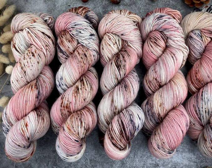 Featured listing image: Espresso Fingering Weight   100% SW Merino   RIVERBED   Hand Dyed Yarn   Earthy Collection