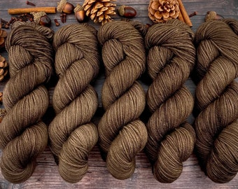 Biscotti DK Weight | 85% SW Merino Wool/15 Nylon | ALLSPICE | Hand Dyed Yarn | Superwash