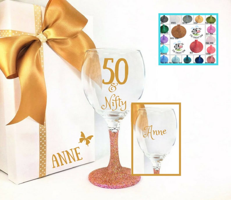 Nifty 50 50th Birthday Age 50 Bag For Life Shopping Tote Bag Ladies Gift