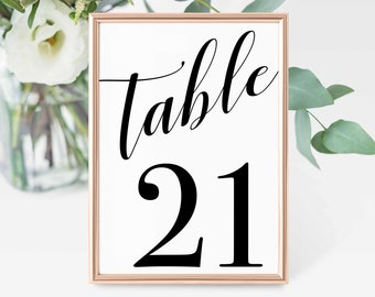 Table Numbers, Instant Download, 5x7, 1-30, Table Number, Wedding Table Number, Wedding Table Decor, Wedding, Printable, Wedding Decor