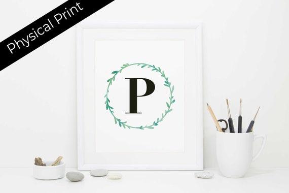 Monogram Print Letter Art Art Print Wedding Gift Best Etsy