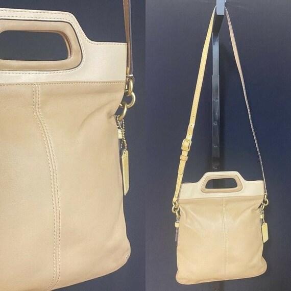 Coach retro vintage crossbody tan bag handbag