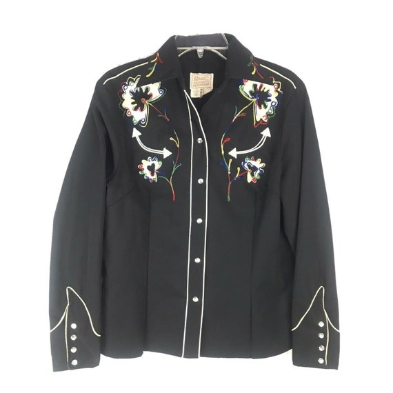 H Bar C Rachwear 70s vintage embroidered shirt Med