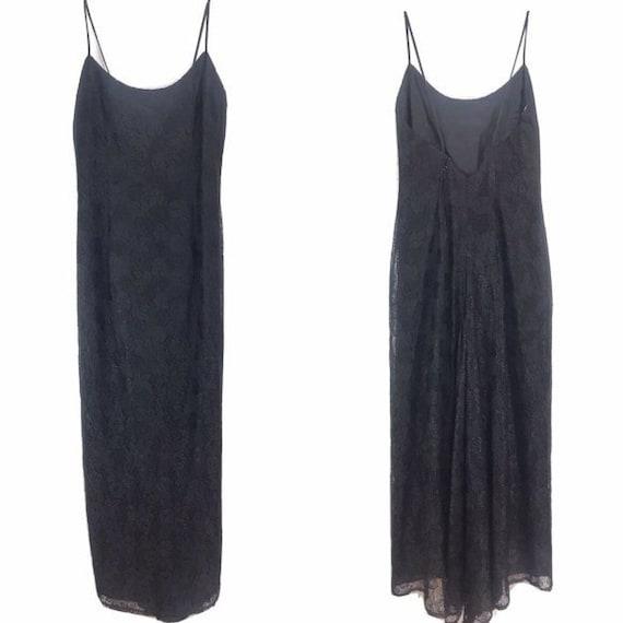 Gunne Sax Jessica McClintock USA black lace dress