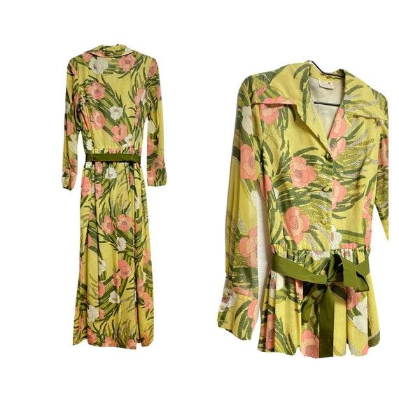 Serbin Muriel l960's Ryan vintage floral dress siz