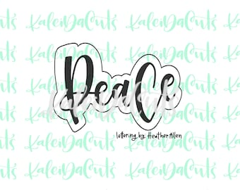 Peace Lettering Cookie Cutter