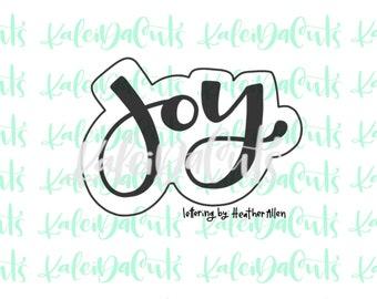 Joy Lettering Cookie Cutter