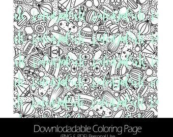 Kaleida Ornaments Downloadable Coloring Page. Personal Use. KaleidaCuts Handlettering.