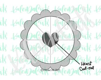 Pie Heart Cutout Cookie Cutter