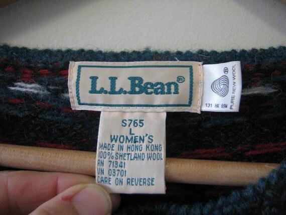 1990s LL Bean 100% wool fuzzy Vintage oversized B… - image 7