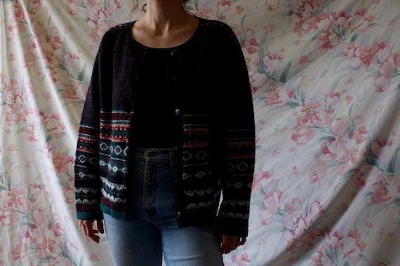 1990s LL Bean 100% wool fuzzy Vintage oversized B… - image 2