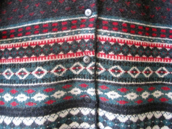 1990s LL Bean 100% wool fuzzy Vintage oversized B… - image 6