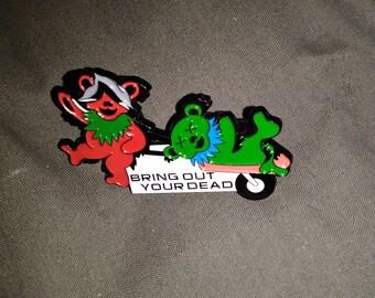 86d42f3ce71 Grateful Dead Greensky Bluegrass Monty Python Mash Up Hat Pin
