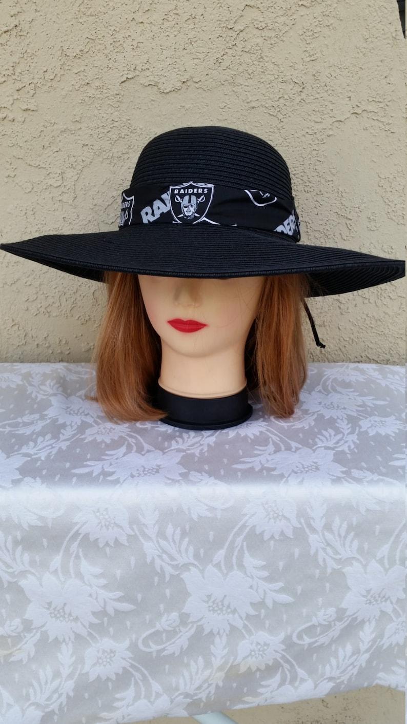 93c7208d Oakland Raiders Womens Big Brim Floppy Sun Hat | Etsy
