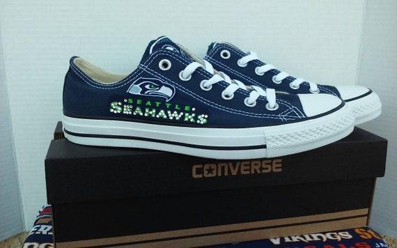 db35da6033d0 Seattle Seahawks Converse Chucks Mens Womens