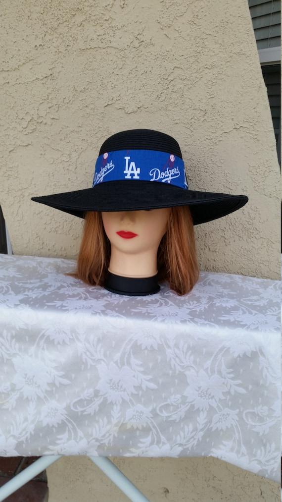 Los Angeles Dodgers Womens Big Brim Floppy Sun Hat  6485bd81973