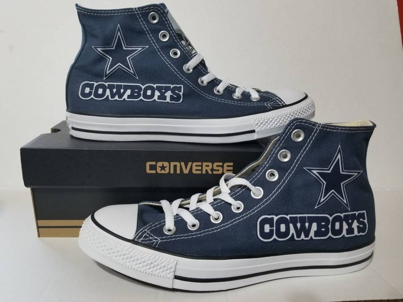 33b94df831eb3 Dallas Cowboys Converse Hi Top Chucks Mens Womens