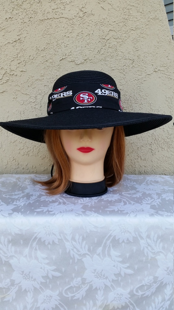 NFL SAN FRANCISCO 49ERS Womens Big Brim Floppy Sun Hat  e02bc679204