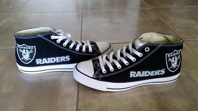 Raiders Converse Hi Top Chucks Mens